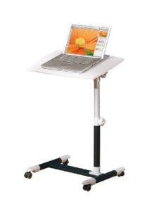 2017 - Link Laptop Tisch auf Rollen Alexis ♥ Hochglanz Weiß ♥ Schwarz ♥7,2 kg
