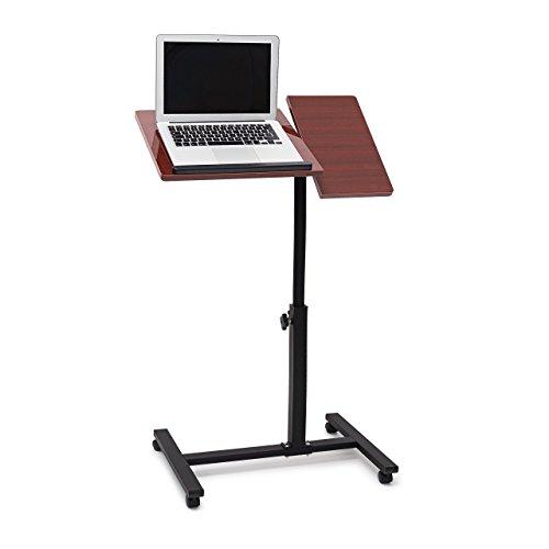 2017 - Relaxdays Laptoptisch Mahagoni ? Laptoptisch höhenverstellbar ? Stahl-Fuß ? MDF ? Braun ? 4,9 kg