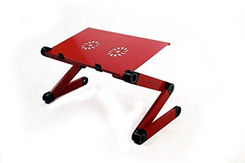 2017 - Laptoptisch Bett ? Colorfulword Laptoptisch ? Aluminium ? Rot ? Schwarz ? 1,3 kg