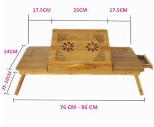 2017 - Laptoptisch Bett - XXL Bambus Laptoptisch ♥ Bambus ♥ Natur ♥ 3 kg