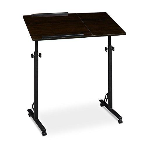 2017 - Relaxdays Laptoptisch ? pulverbeschichteten Stahl-Fuß ? MDF Platten ? Schwarz ? 7 kg