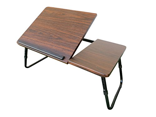 2017 - RRR XL Laptop Tablett - stabile Ausführung ? XL Laptop Tablett ? MDF ? Stahl-Gestell ? Braun