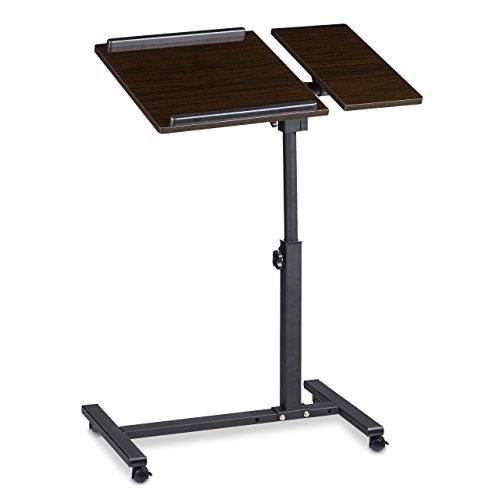2017 - Relaxdays Laptoptisch ? Notebookwagen ? MDF ? pulverbeschichteter Stahl ? schwarz ? 6 kg