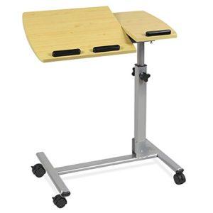 Yahee Laptoptisch höhenverstellbar ♥ MDF ♥ Stahlrohrständer ♥ Beige ♥ 6,5 kg