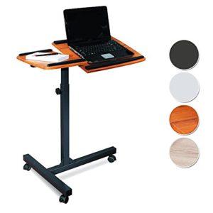 2017 - SixBros. Laptoptisch Projektionstisch Teak/Schwarz  ♥ Teak ♥Schwarz ♥ 8 kg