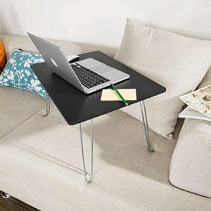 2017 - Laptoptisch Bett - SoBuy  Laptoptisch ♥ Füße aus Metall ♥ Schwarz ♥ 2,4 kg